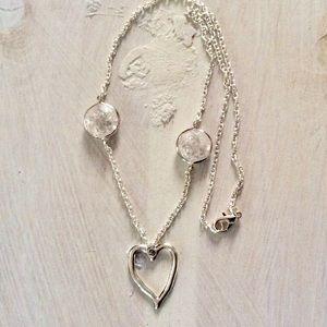 Anthropologie Necklace Heart Pendant NWOT